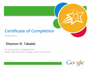 Power Searcher Certificate